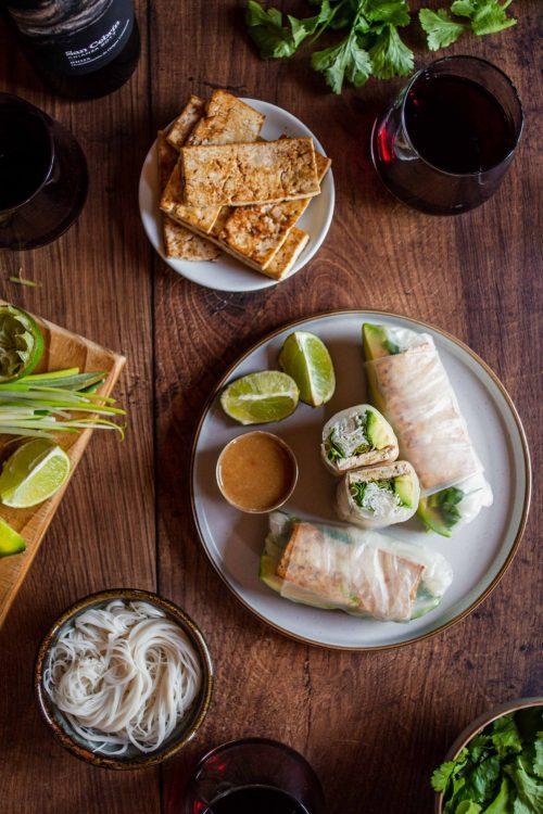 RECIPE & PAIRING: Vietnamese Spring Rolls with a chilli garlic dipping sauce and San Cebrín Rioja Crianza