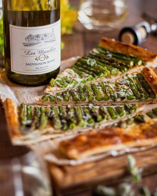 RECIPE & PAIRING: Asparagus, oregano & parmesan tart with Les Maselles Sauvignon Blanc