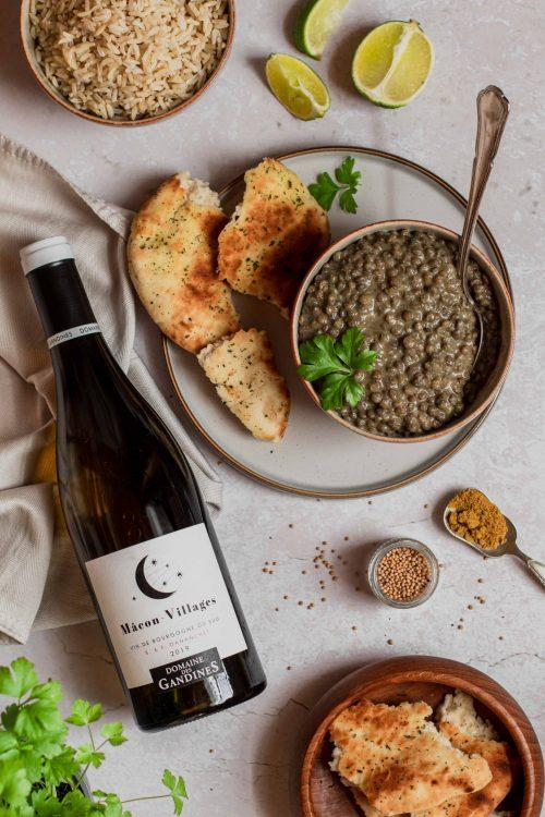RECIPE & PAIRING: Creamy Coconut Green Lentil Dhal with Macon-Villages Chardonnay